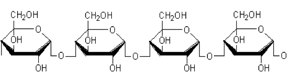 Fig. 11(a): Structure of amylose