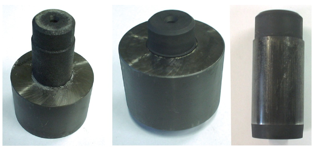 Fig. 10: Press-in tests with different phosphate coatings; shaft incompletely...