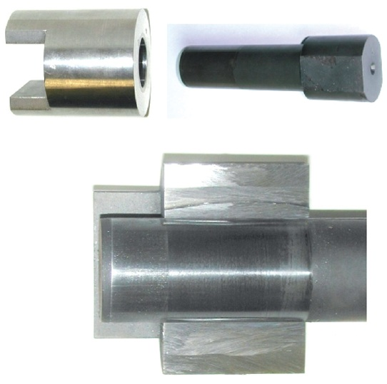 Fig. 12: longitudinal press-fit connection for torque transmission tests; uncoated...