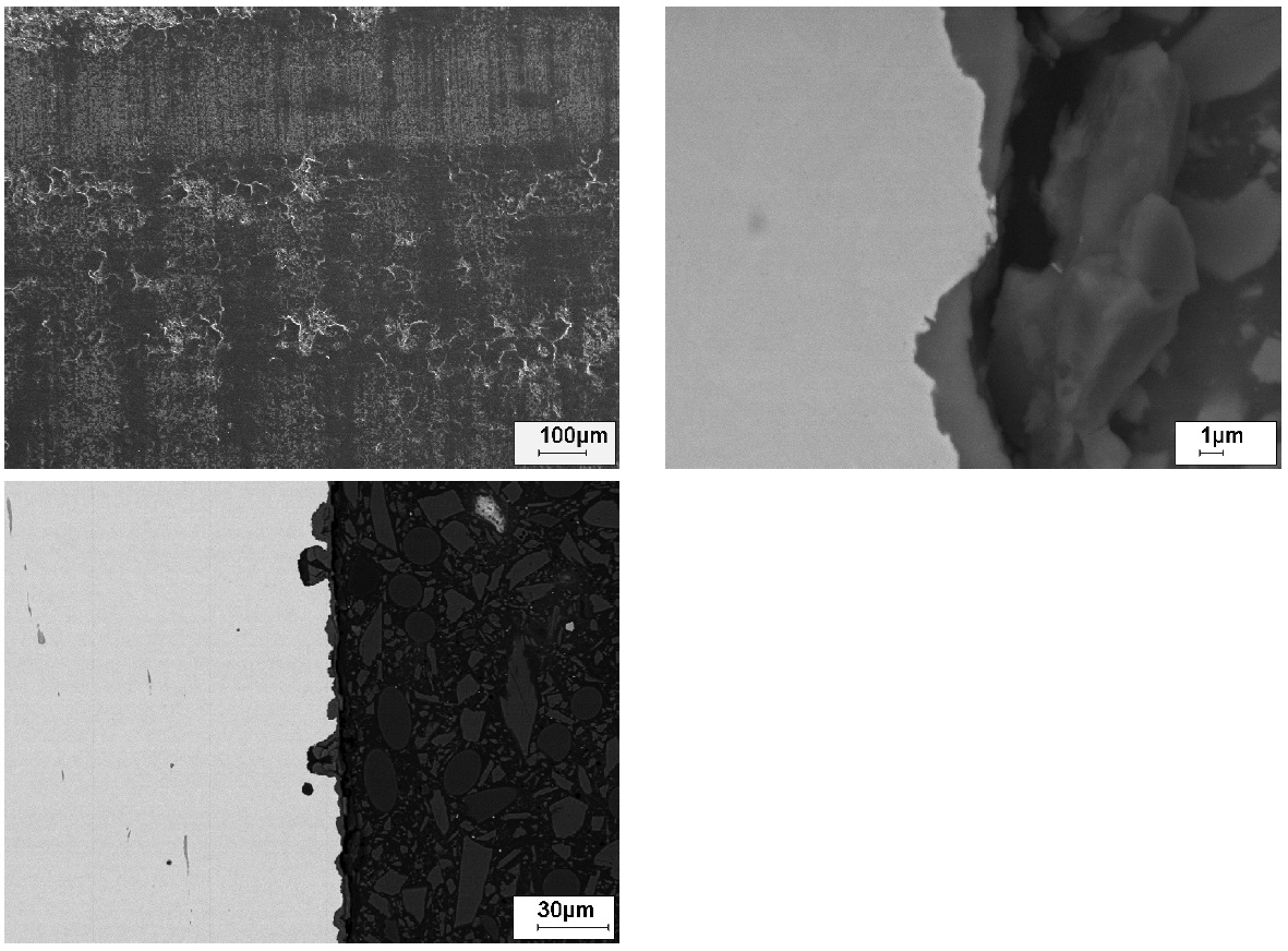 Fig. 15: Damaged coating of a phosphated shaft; separations in the pressing...
