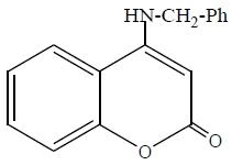 (b) 4-benzyl amino-coumarin