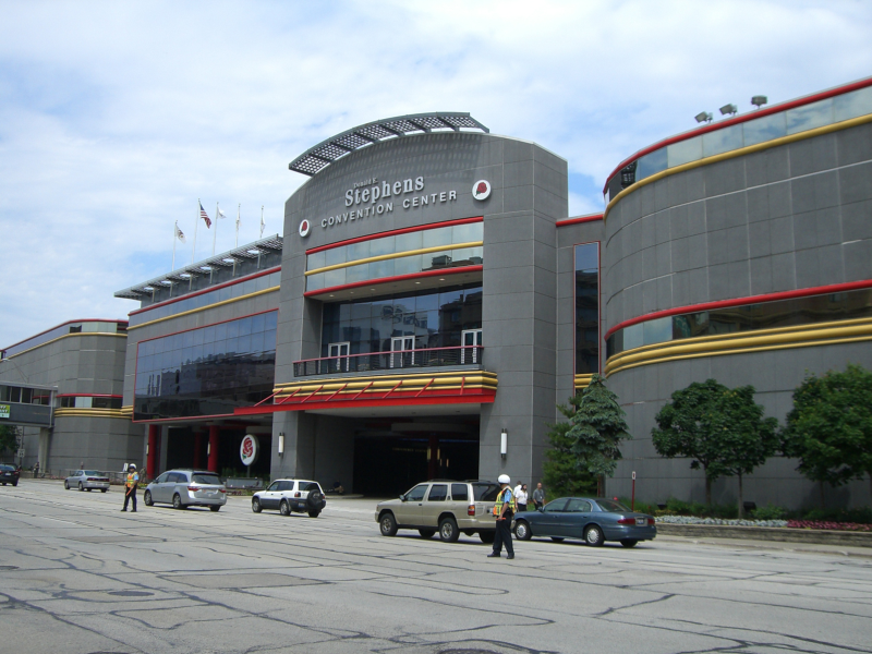 """Congress and meeting location: """"The Donald E. Stephens Convention Center"""" in Rosemont/Chicago"""