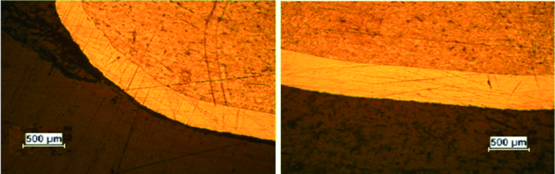 Fig. 2: Electroplated sample