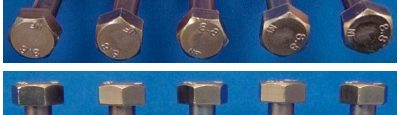 Fig. 22: M10 bolts coated with Zinni® 220 and passivated with Tridur DB, heat treated (hydrogen de-embrittlement) at 210 °C for 4 hours after passivation; samples before NSS test (a) and after 504 h in NSS chamber (b); test according to ASTM B-117